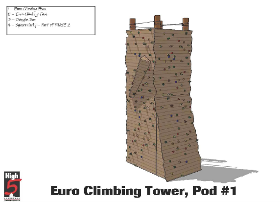 Climbing Tower Pod 1 front view