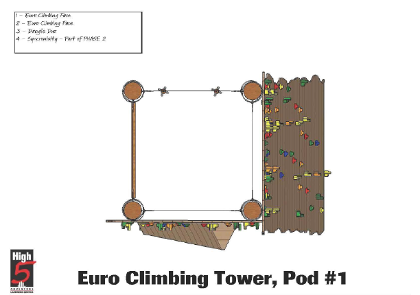 Climbing Tower Pod 1 top down view
