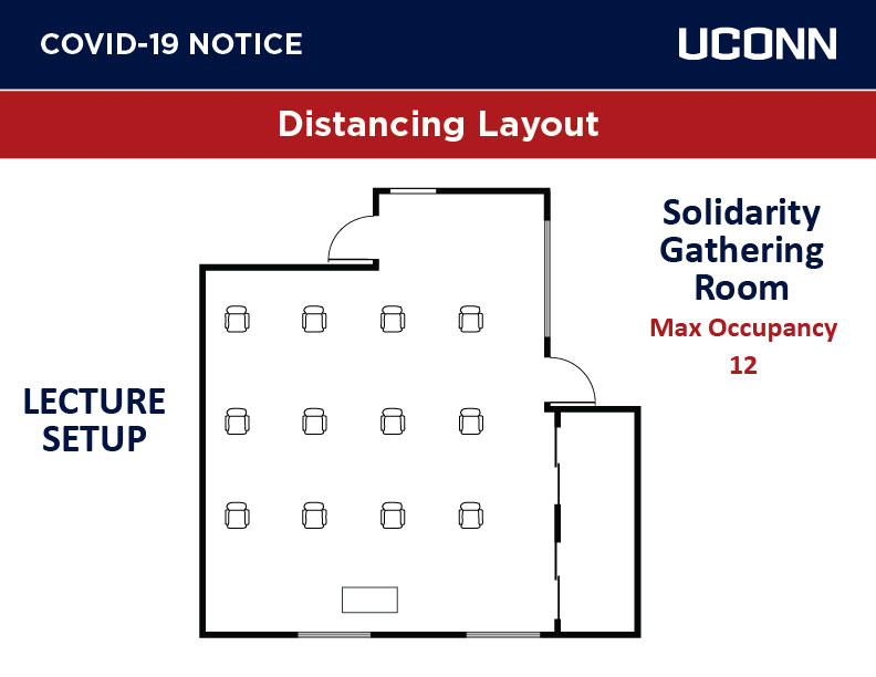 solidarity room with lecture style seating